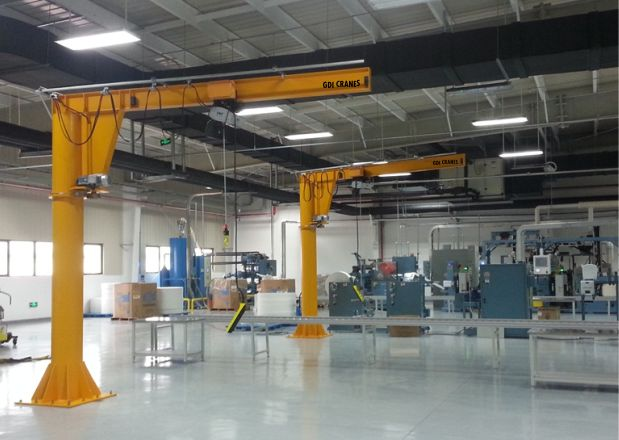 Pillar mounted jib cranes manufacturers India